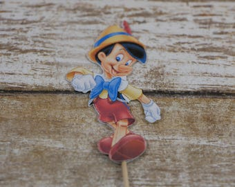 Pinocchio cupcake topper, Pinocchio  cupcake picks, Pinocchio birthday decoration, Pinocchio birthday decoration