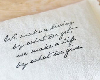 New Job Gift, Inspirational Lavender Sachet, Winston Churchill Quote, Gift for Co Workers