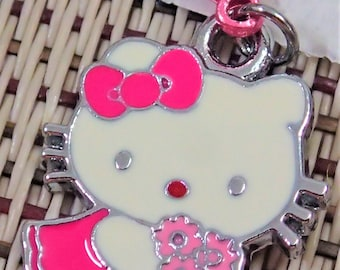Cute Adorable Pink Flower Hello Kitty Charm