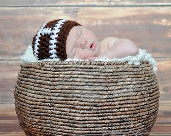 Baby football hat photography prop  (sizes nb, 1-3mos, 3-6mos, 6-12mos)
