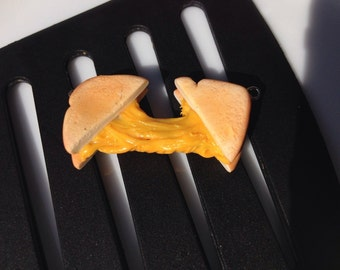 The Original Gooey Melted Grilled Cheese Necklace