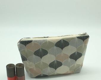 Makeup Kit, Kit toiletry bag in laminated cotton fabric