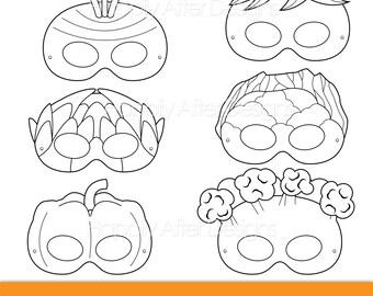dessert printable coloring masks donut mask cupcake mask