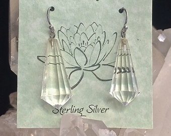 Faceted Clear Quartz Earrings