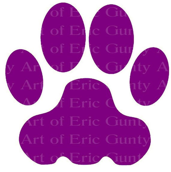 Purple Panther Tiger Paw Birthday - Edible Cake and Cupcake Topper For Birthday's and Parties! - D22949
