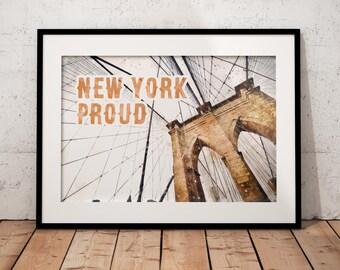 Brooklyn Bridge Art Print // New York Print // Brooklyn Bridge Art // Brooklyn Art // New York Wall Art // New York Gift // NYC