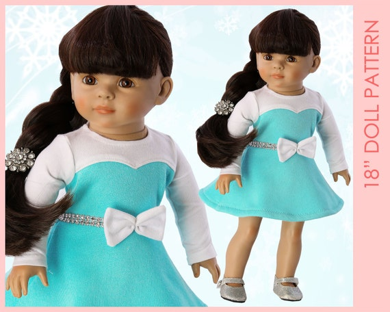 18 inch doll clothes patterns, Doll Dress Pattern, Doll Patterns, 18 ...