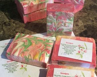 Sweetpea fragranced soap 5.25 oz