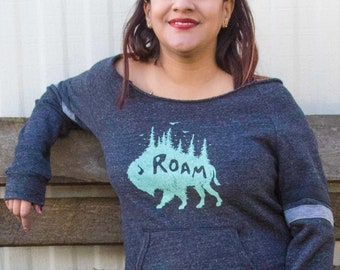 Nature Lover Gift, Nature Inspired Camping Shirt, Nature Shirt, Nature Sweatshirt, Camping Sweatshirt, Buffalo Shirt, Bison Shirt