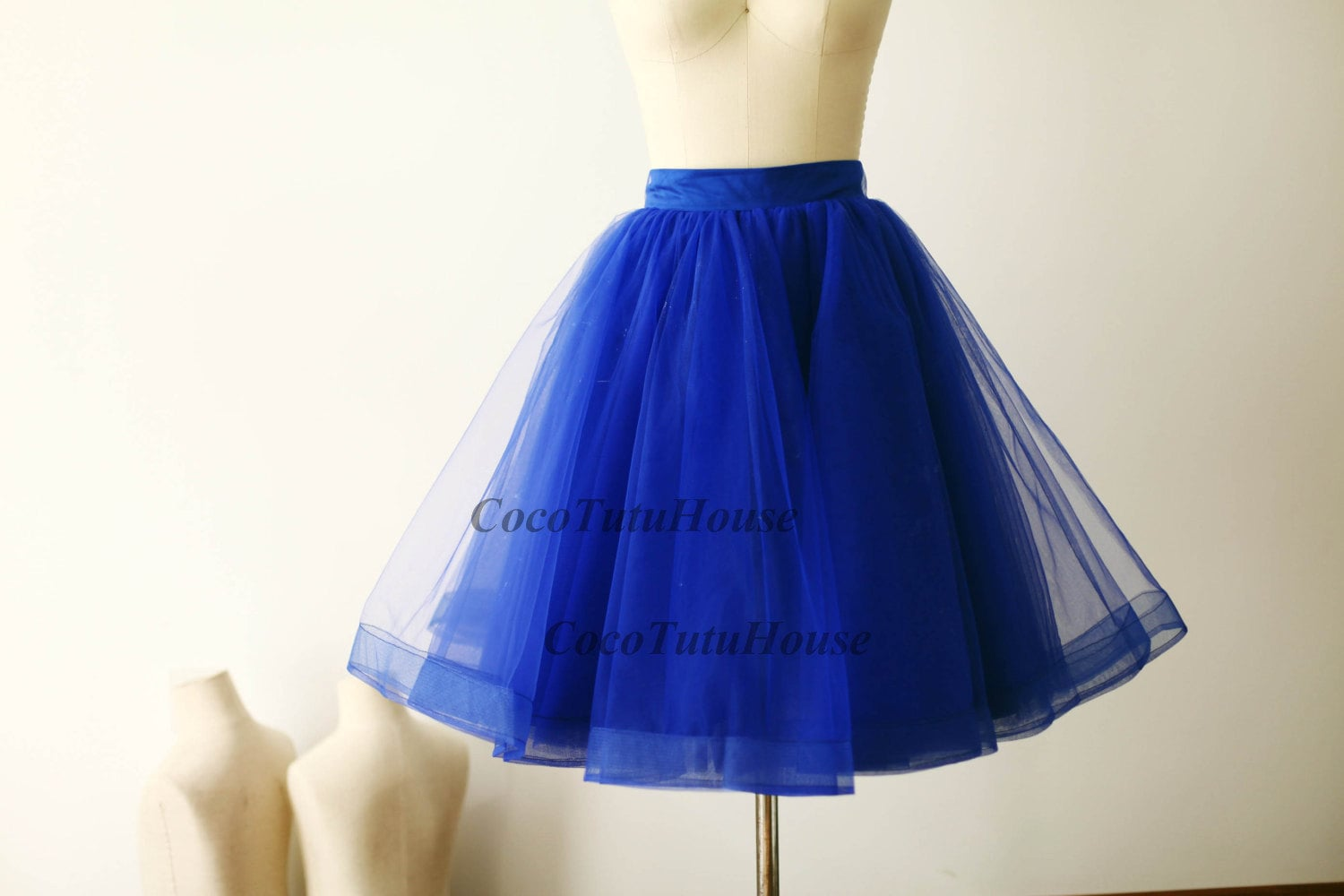 Royal Blue Tulle Skirt Horse Hair Women