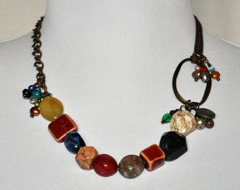 "Handmade One-of-a-kind 19"" Beaded Necklace"