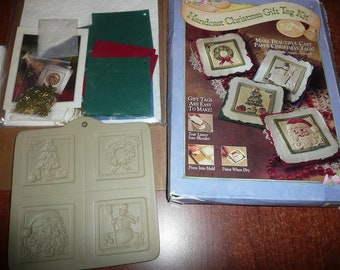 Handcast Christmas Gift Tag Kit, Bulk Handcast Paper, Cotton Paper Kit, Project Books