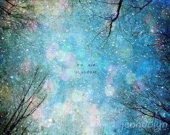Stardust II - PHOTO, winter decor, night sky photo, celestial sky, surreal