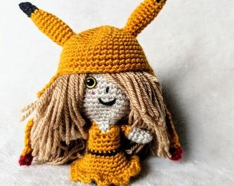 Crochet Amigurumi Doll - Pikachu Pixie