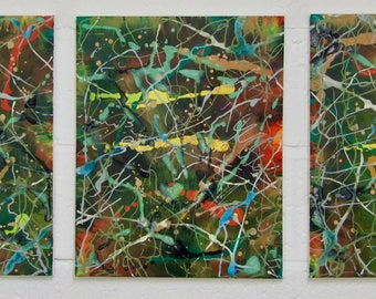 Abstract Painting Triptych