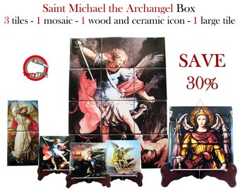 Catholic lot - Saint Michael the Archangel tiles collection - Save 30% - St Michael Archangel - spiritual gifts - angels collection
