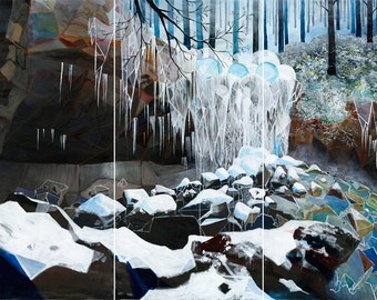 Art print: Frozen waterfall