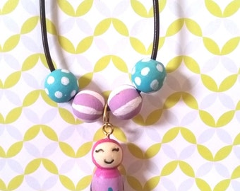 Islamic Necklace/Muslim Doll/Islamic Doll/Muslim Necklace/Hijab Girl Necklace/Multicultural Doll/Muslim Teen Jewelry/Islamic Jewelry