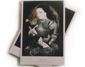 Postcard, Lady Knight