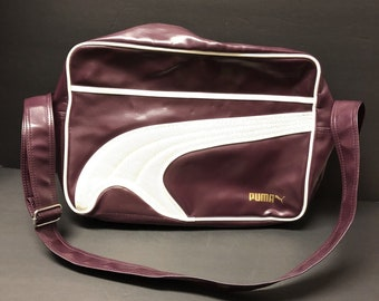 Vintage PUMA Retro Purple Bowling Bag Gym Sporty Style Rockabilly 1988