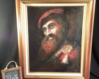 """Military General - Captain Oil Painting - EL Stroim Signed - 22""""x26"""" Renaissance (Free Shipping)"""