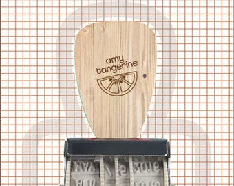American Crafts Amy Tangerine Rolling Phrase Stamp, Kara Rotary Phrase Stamp, Rise and Shine Collection, Scrapbooking Supplies, Rubber Stamp