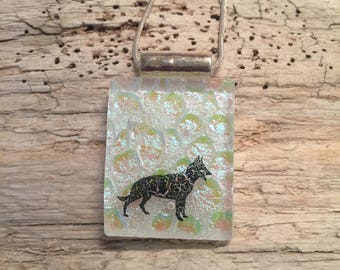 jewelry, glass jewelry, fused glass, dog lover, dog necklace , dog, dog jewelry, pendant, cowgirl jewelry, handmade jewelry, glass