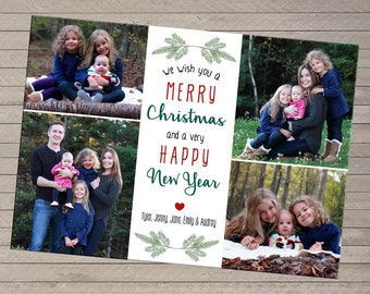 Four Photo Christmas Holiday Card
