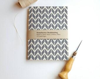 Chevron Notebook - Chevron Design Journal - Pocket Notebook - Jotter - Arrows Design - Diary