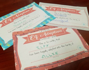 Elf Adoption Certificate Bundle! Pick 3!