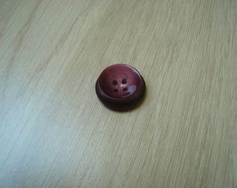 Pink Burgundy round button