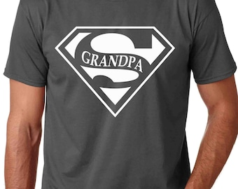 Super Grandpa Men TShirt T-Shirt for Grandpop, New Grandparents, Birthdays for Grandpa, Gifts for Him, Gift for dad, Holidays