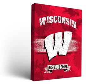 Wisconsin Badgers Canvas Wall Art Designs