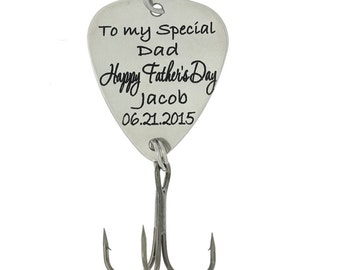 "LGU(TM) Personalized Hook Fishing Lure for Gift - ""Happy Father's Day..To my special dad"" with Name"