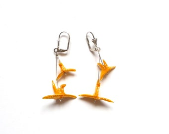 Origami Earrings Birds St Petersburg