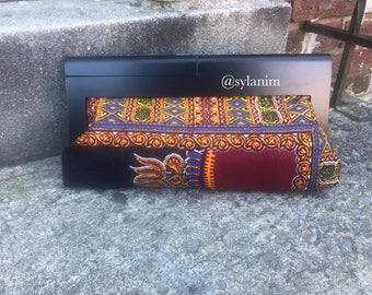 African fabric clutch /kente bag/ ankara clutch/clutch Purse/ Wood frame/ankara fabric/wood clutch