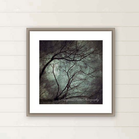 Creepy Tree Print Dark Art Branches Tree Mystery Fine Art