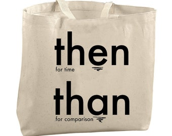 Grammar Tote Bag Large Totes Beach Bags Canvas Tote Bag Reusable Grocery Bag Tote Teacher Bag Gifts for Teachers Gifts English Teacher Gifts