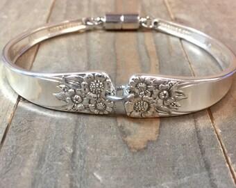 Spoon Bracelet   April silverplate  1950 April Bracelet  silverware bracelet, silverware jewelry, silverware bracelet, vintage spoon