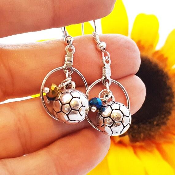 Soccer Earrings, Soccer Team Gifts, Soccer Ball Jewelry, Soccer Ball Charms, Sports Charms Jewelry, Soccer Coach Gift, Bulk Charms, Unity
