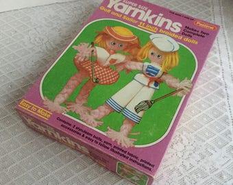 Vintage Yarn Doll Crafting Kit / Yarnkins Golf and Sailor Doll Making Kit 1980