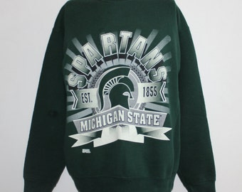 Vintage Michigan State Spartans NCAA Crewneck Sweatshirt L