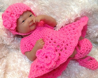 14 Inch Doll clothes,9 inch doll clothes, Doll Dress Sets,Gifts for Kids, Color choice available,Hat ,Dress and Shoes