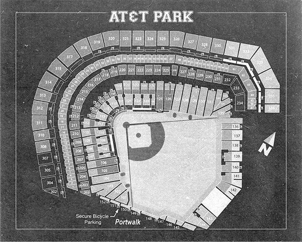 Vintage print of att park seating chart san francisco giants vintage print of att park seating chart san francisco giants baseball blueprint on photo paper matte paper or stretched canvas malvernweather Gallery