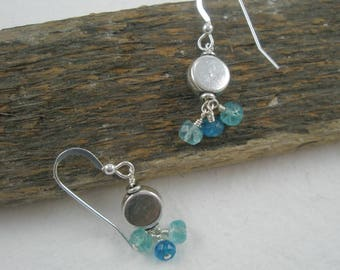 Blue Apatite on Sterling Silver