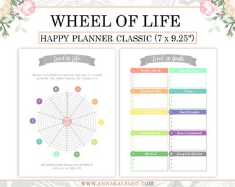Happy Planner Inserts Printable, New Year Planner, Resolutions Planner, Level 10 Life Printable, Goal Planner, Bullet Journal, Goal Setting