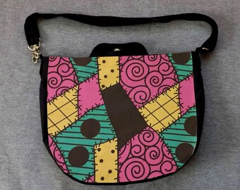 Sally Nightmare Patch Cross Body Purse Messenger Bag