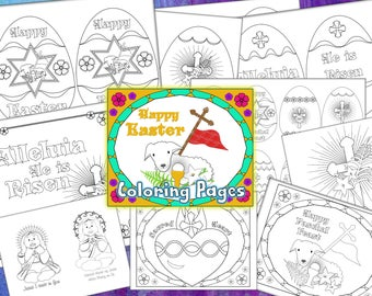 Easter Coloring Pages PDF Catholic Kids Coloring
