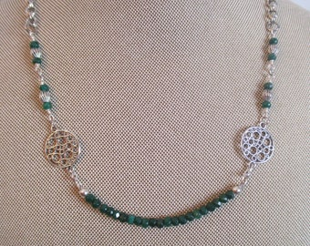 JADE Green and Silver Necklace