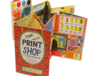 The Print Shop by Alice Pattullo, a guide to making a book, from dummy to the finished book